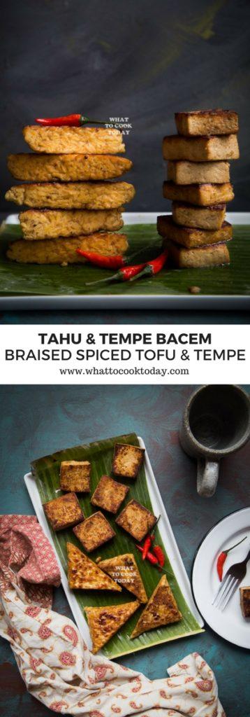 Tahu dan Tempe Bacem (Braised Spiced Tofu and Tempe)