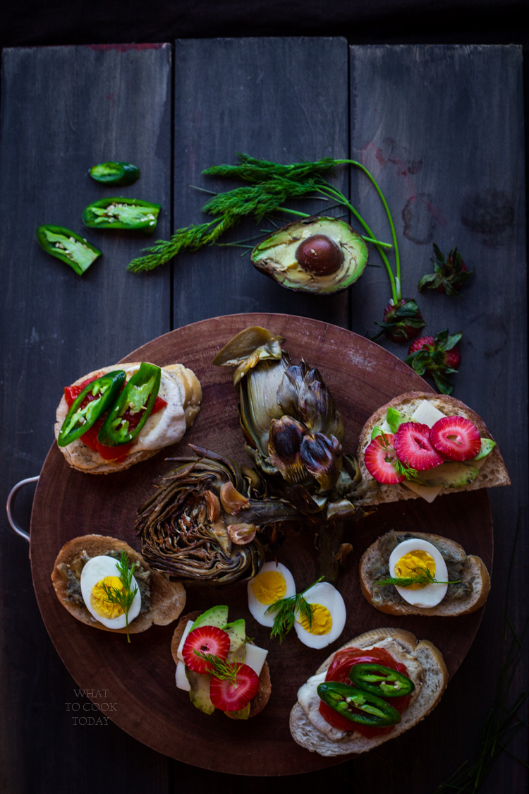 How to roast whole artichoke and garlic