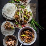 Pulled pork and mushroom medleys taco
