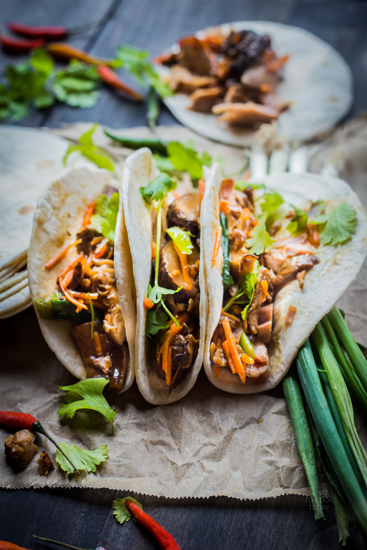 Slow cooked pull pork and mushroom medleys taco #tacotuesday