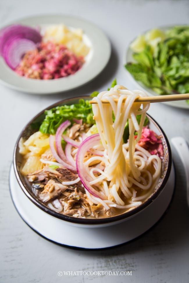 Penang Asam/Assam Laksa (Sour and Spicy Fish Noodle Soup)