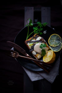 Halibut with miso sauce