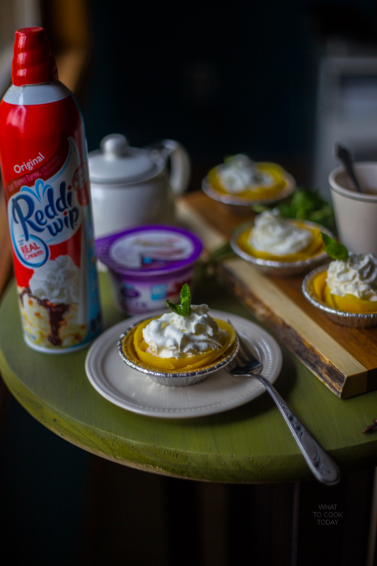 Effortless mini mango strawberry shortcake pies #EffortlessPies #ad