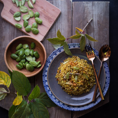 Nasi Goreng Pete/Petai (Stink bean fried rice)