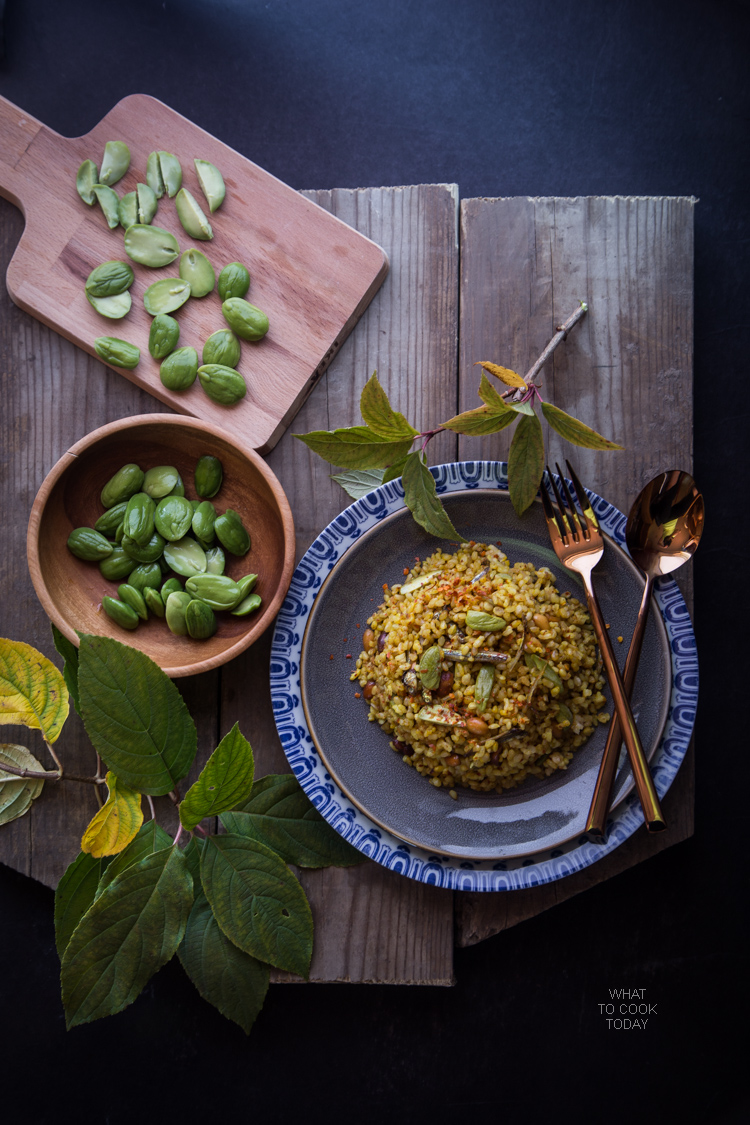 Nasi Goreng Pete/Petai (Stink bean fried rice) . Popular Indonesian street food