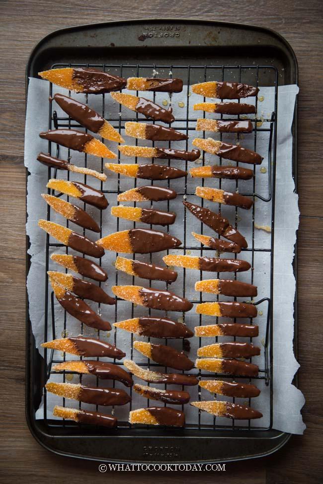 Orangettes Recipe (Chocolate Candied Orange Peel)