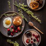 Ricotta coconut tigernut flour pancakes