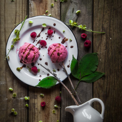 Rhubarb raspberry coconut milk ice cream (updated)