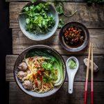 Easy Breezy Asian Pork Meatballs Noodle Soup