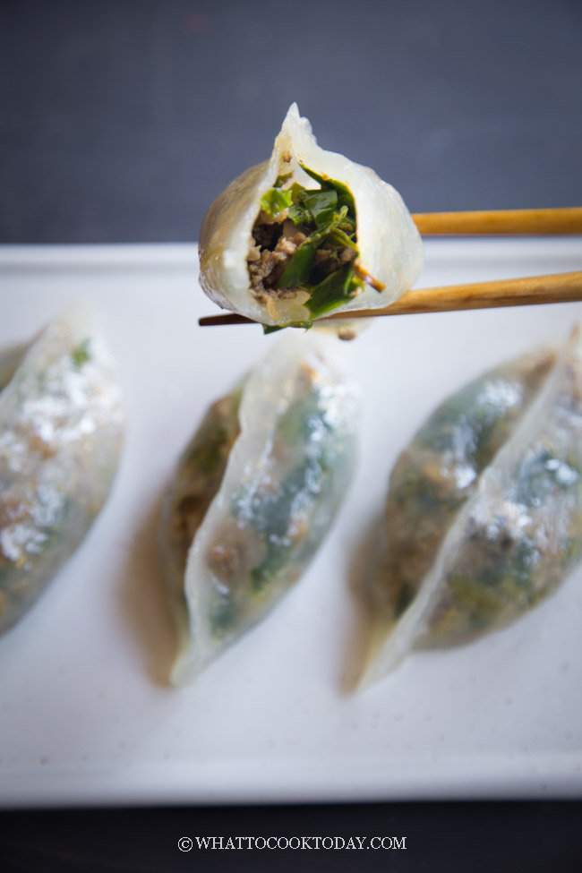 Ku Chai Kuih / Koo Chai Kueh (Steamed Chives Dumplings)