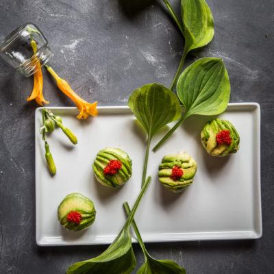Pan-fried tonkatsu avocado rolls