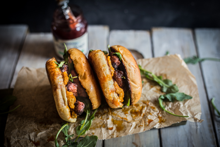 Chorizo with chickpeas mash and strawberry jalapeno #SpreadTheHeat #ad