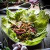 Thai larb moo (Spicy pork salad)
