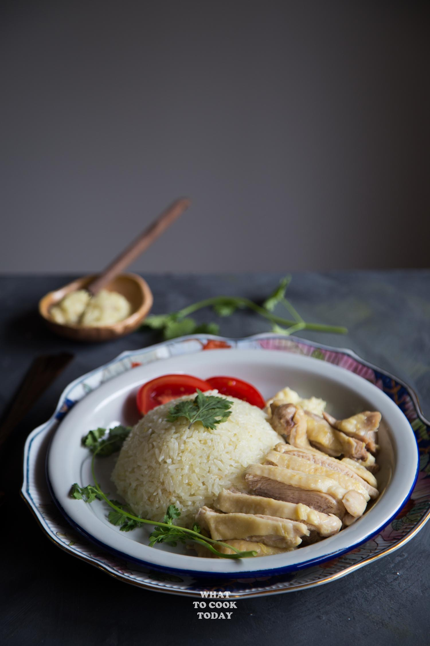 Easy Pressure Cooker Hainanese Chicken Rice