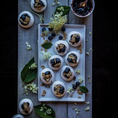 Mini rosewater blueberry Pavlova