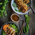 Ad: Stir-fried udon and Teriyaki crispy chicken rice bowl