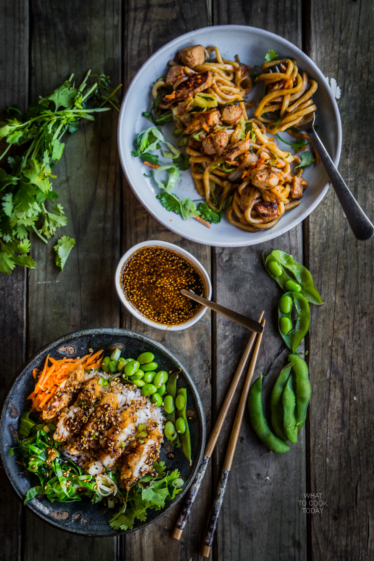 Ad: Stir-fried udon and Teriyaki crispy chicken rice bowl#ReimagineYourRoutine