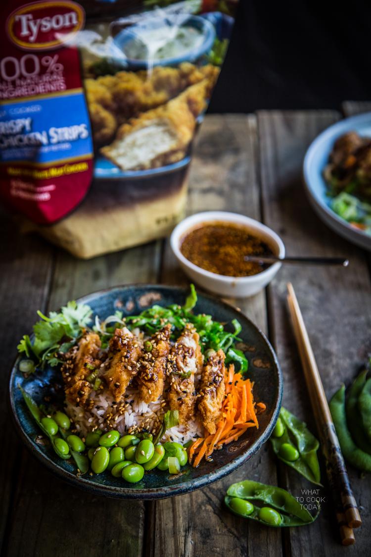 Ad: Stir-fried udon and Teriyaki crispy chicken rice bowl #ReimagineYourRoutine