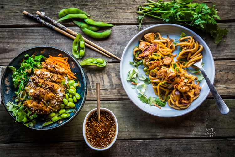 Ad: Stir-fried udon and Teriyaki crispy chicken rice bowl #ReimagineYourRoutine