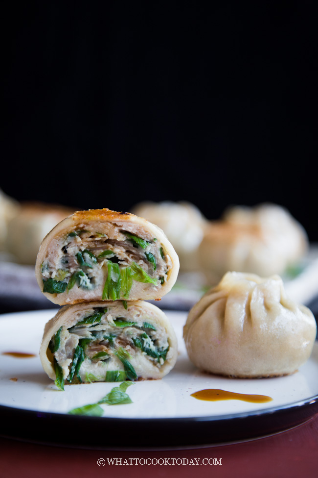 Pan-fried Pork and Chives Buns