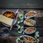 Ham and Gruyere sandwich