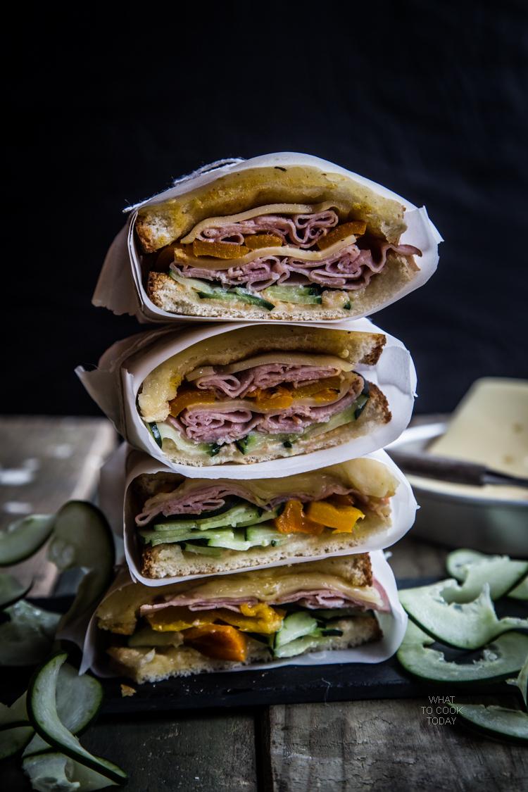 Ham and Gruyere sandwich #SandwichWithTheBest #ad
