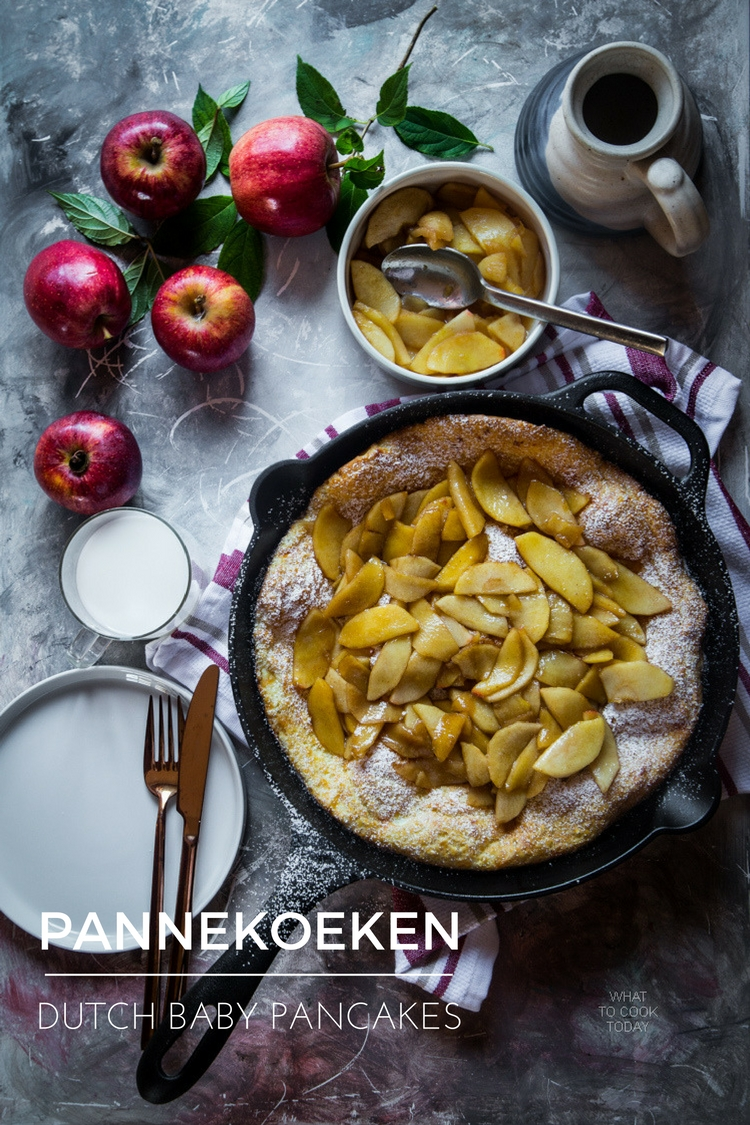Pannekoeken / Dutch baby pancakes.The best Dutch baby recipe you can ever have