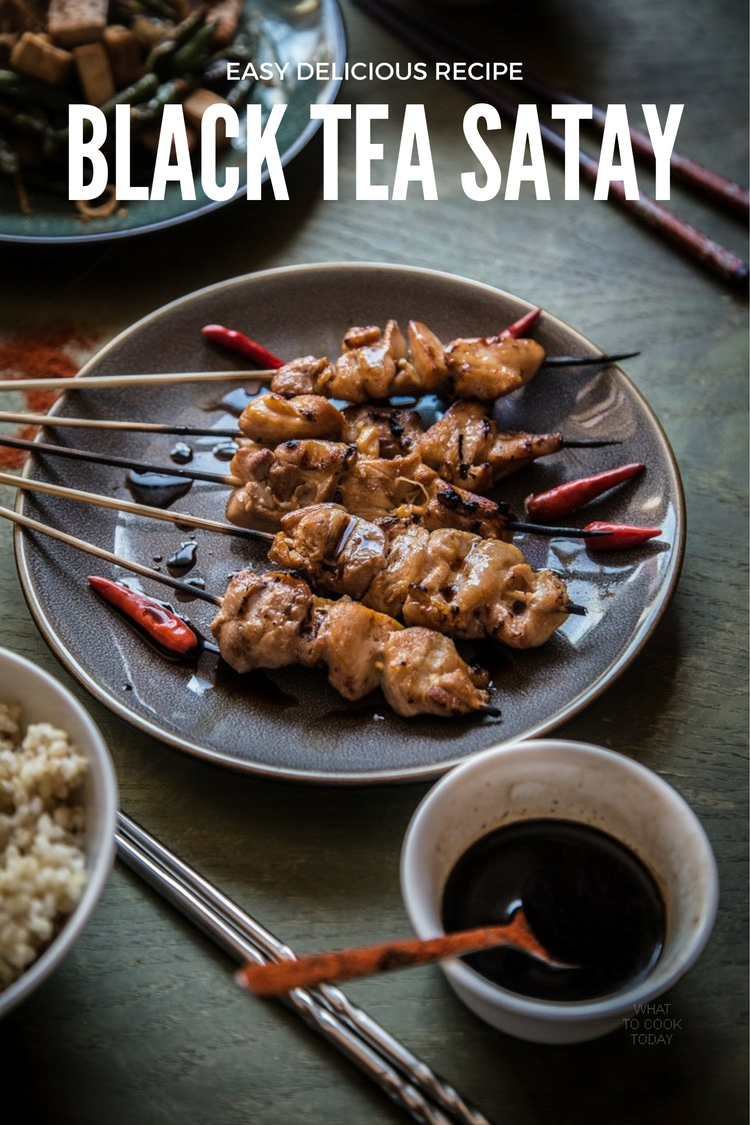 Black tea infused satay.So flavorful and easy recipe to make. Perfect for anyday
