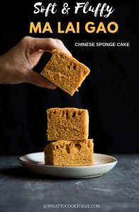 Easy Soft Fluffy Ma Lai Gao (Chinese Steamed Sponge Cake)
