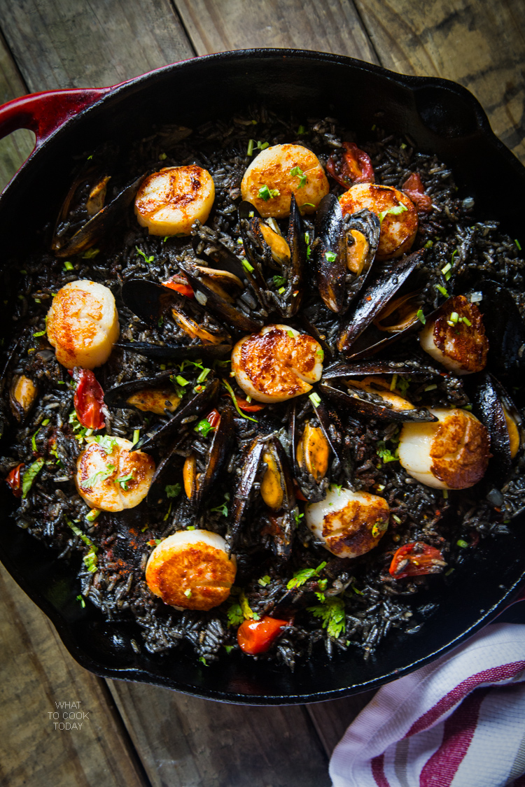 Squid Ink Seafood Paella What To Cook Today