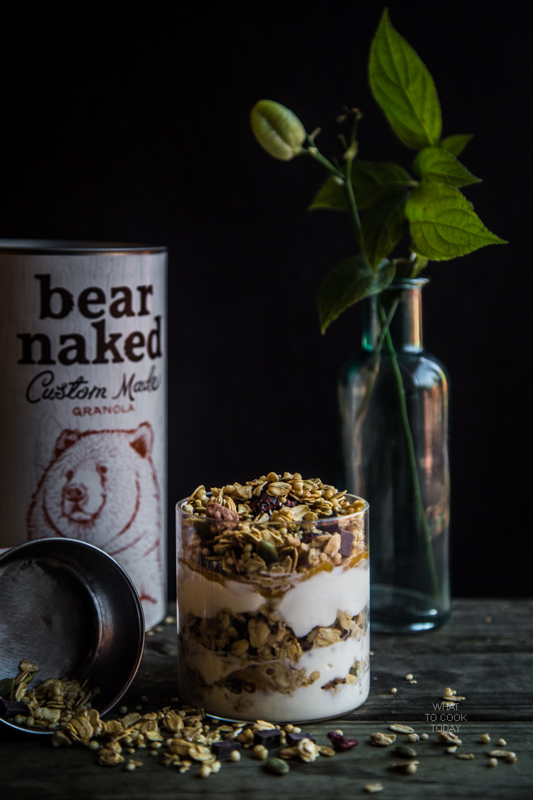 Yogurt parfait with bear naked granola