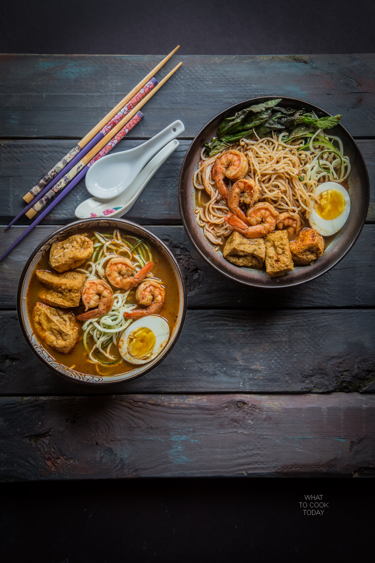 Easy Shrimp Red Curry Zoodles