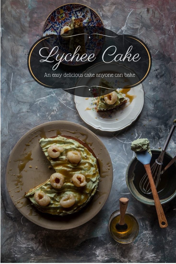 Lychee cake. Easy cake anyone can bake |What To Cook Today