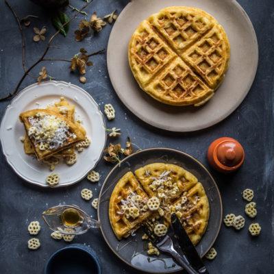 Coconut cereal Belgian waffles