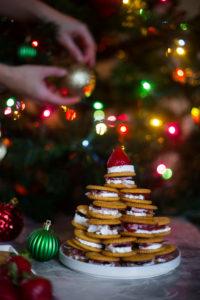 Brie prosciutto cranberries RITZ Crackers tree
