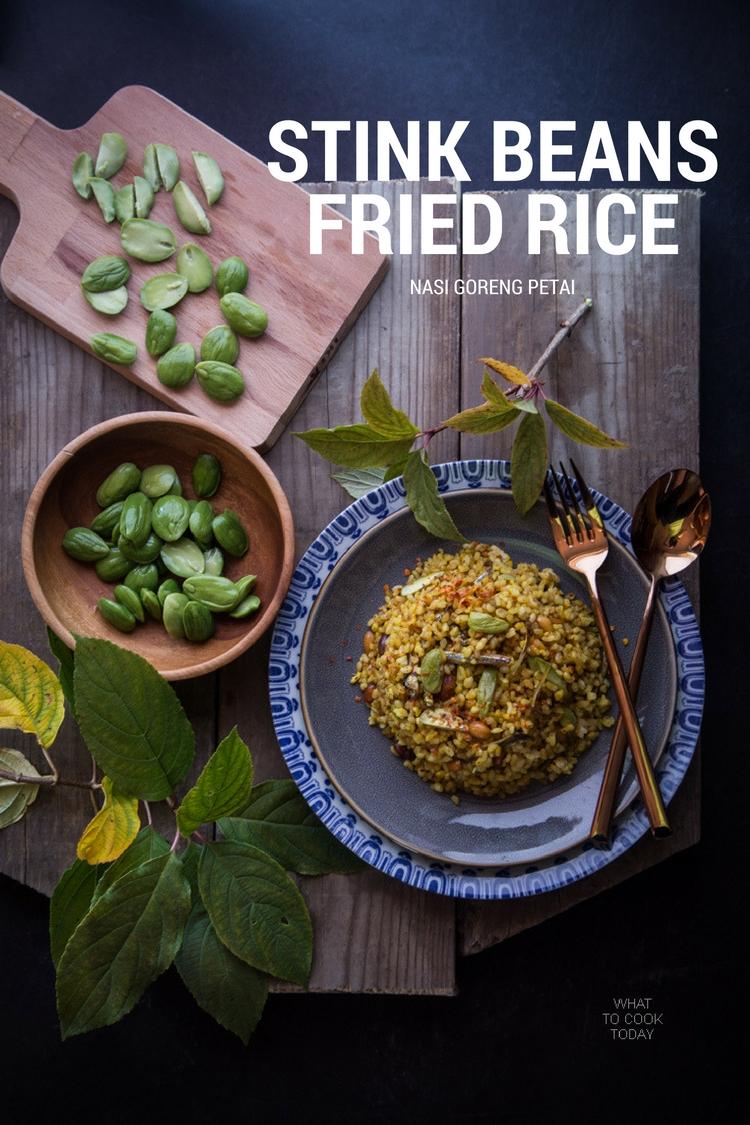 Nasi Goreng Pete/Petai (Stink bean fried rice) .Popular Indonesian street food