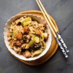 Kua Chai Pui / Nasi Tim Sawi Pahit (Mustard Greens Pork Belly Rice)