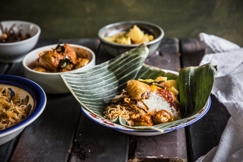 Indonesian Vegetables with Rice (Nasi Sayur Medan)
