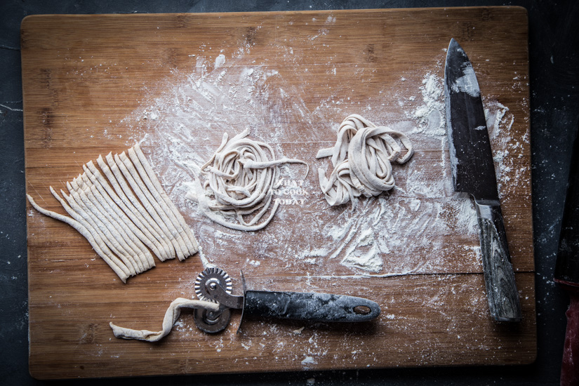 How to make Homemade five-spice noodles by hands. Delicious easy Homemade five-spice noodles recipe. Perfect chewy springy noodles. Click through for full recipe and step by step instructions