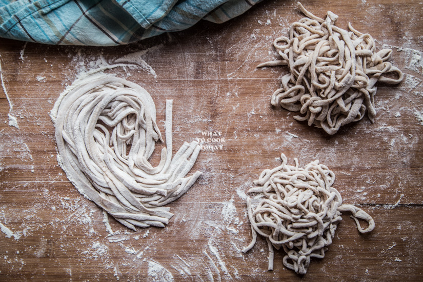 Homemade five-spice noodles (by hands)