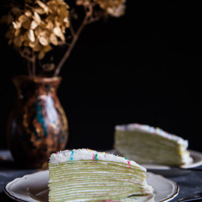 Pandan Mille Crepe Cake (and turning 38)