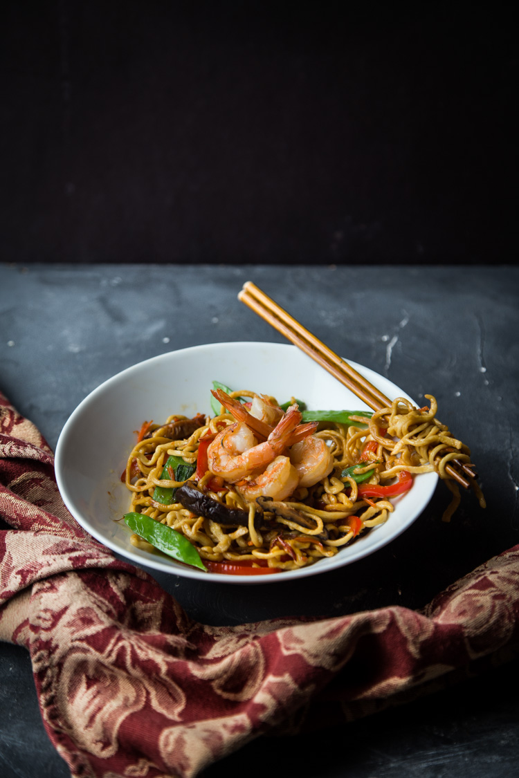 Easy Shrimp Lo Mein