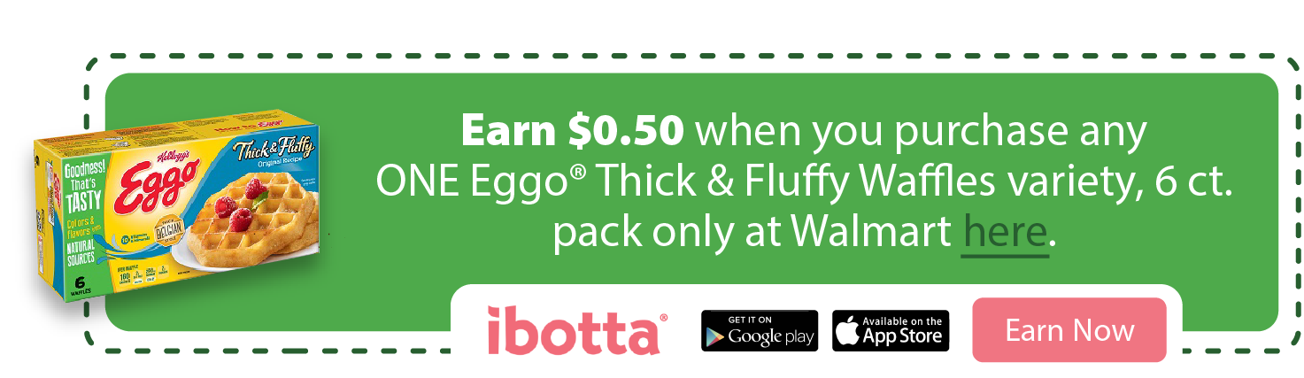 Ibotta Offer for Eggo Thick and Fluffy Waffles