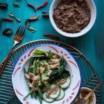Pecel (Indonesian peanut sauce for salad)