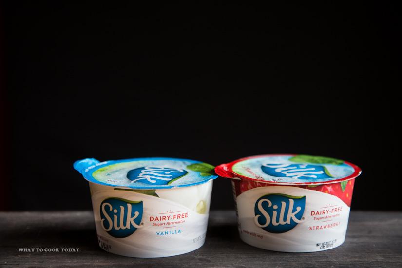 Vanilla and Strawberry flavors Silky Dairy-Free Yogurt Alternative #DairyFreeGoodness #ad