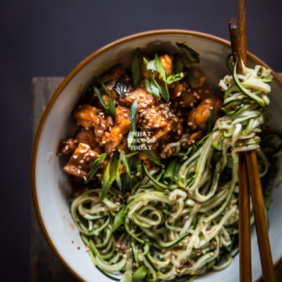 Gochujang Chicken Zoodles
