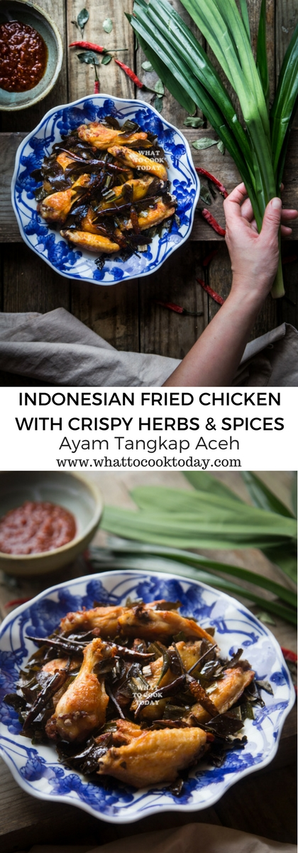 How to make Ayam Tangkap Aceh (Indonesian Fried Chicken with Spices and Herbs). Delicious Indonesian Ayam Tangkap Aceh (Indonesian Fried Chicken with Spices and Herbs) recipe. Click through for full recipe and step by step instructions