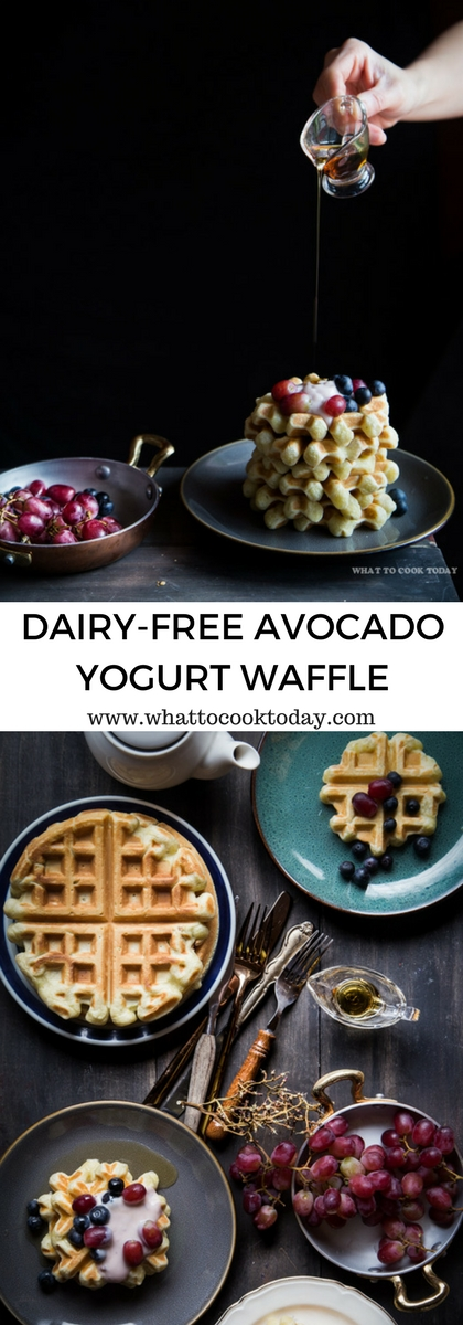 How to make Dairy-Free Avocado Yogurt Waffles. Delicious Easy Dairy-Free Avocado Yogurt Waffles recipe. Click through for full recipe and step by step instructions. #DairyFreeGoodness #ad