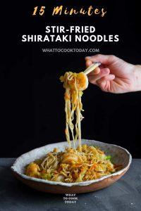 15-minute Stir-fried Shrimp Shirataki Noodles