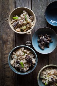 One-pot Miso Chicken Rice and Morels